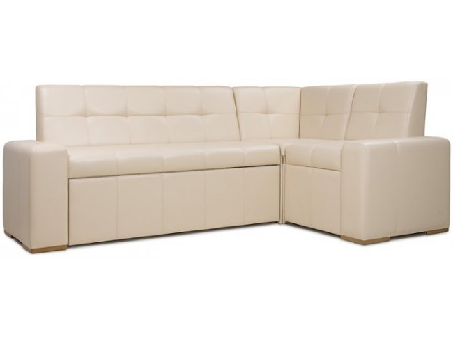 Мадрид угловой кухонный диван - mango 793 (бежевый) - 212*135 пр фото